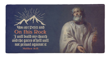 St. Peter with Scripture Hi-Gloss Mini Tile