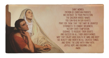 St. Monica Prayer Hi-Gloss Mini Tile