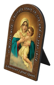 Schoenstatt Madonna Prayer Desk Plaque