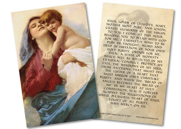 Our Lady of Purity Holy Card