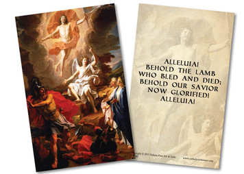Resurrection Holy Card