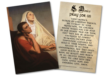 St. Monica Holy Card