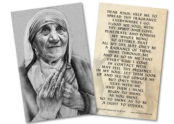 Mother Teresa Holy Card