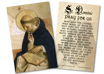 St. Dominic de Guzman Holy Card