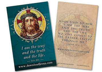 Download Jesus Blue Holy Card