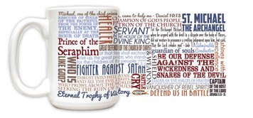Saint Michael the Archangel Quote Mug