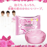 Kose Happy Bath Day Precious Rose Fragrance Soap