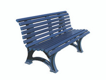 170201-Blue Deluxe Courtsider Bench -  5'