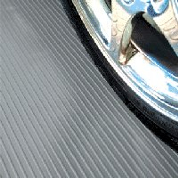 G-Floor Ribbed Pattern Rollout Floor Cover - Slate Grey