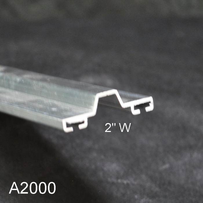 "Aluminum Overhead Garage Door Tongue and Groove Bottom Seal Retainer 2"" W A2000"