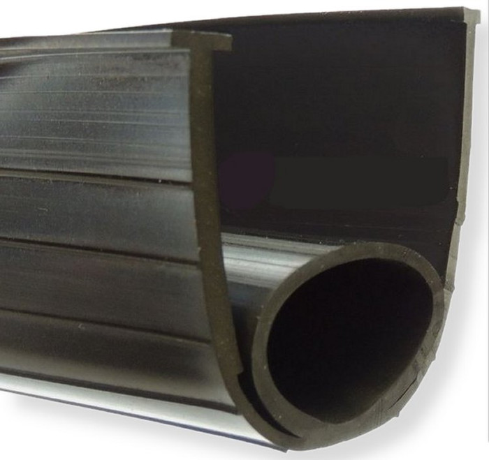 "Super Seal Rubber Garage Door Bottom Seal, 4"" Wide."
