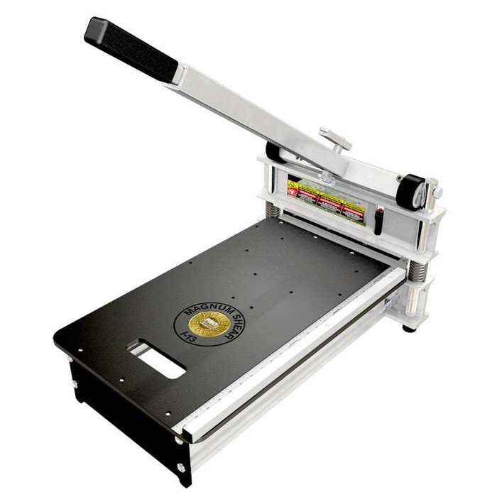 Magnum Shear 913.  Heavy-duty cutter for products up to 13 in. wide and 1 in. thick