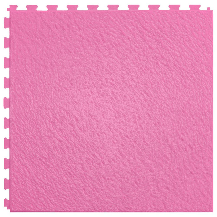 Perfection Floor Tile Home Style Slate Pattern; Flexible Interlocking Tiles, Candy Pink