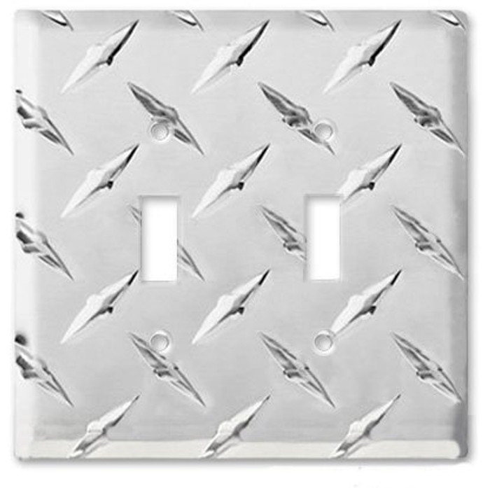 Diamond Plate Double Switch Cover