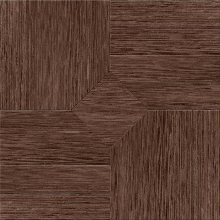 Perfection Floor Tile Wood Grain - Walnut Parquet - Flexible Interlocking Luxury Vinyl Tile