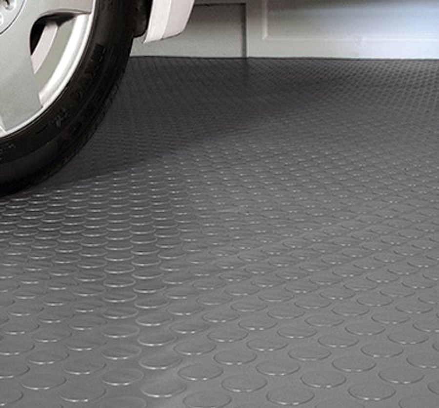 G Floor roll out flooring by Better Life Technologies, Made in USA, Coin pattern garage flooring