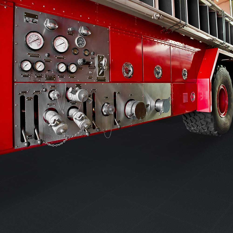 Perfection Floor Tile Industrial Smooth with a firetruck