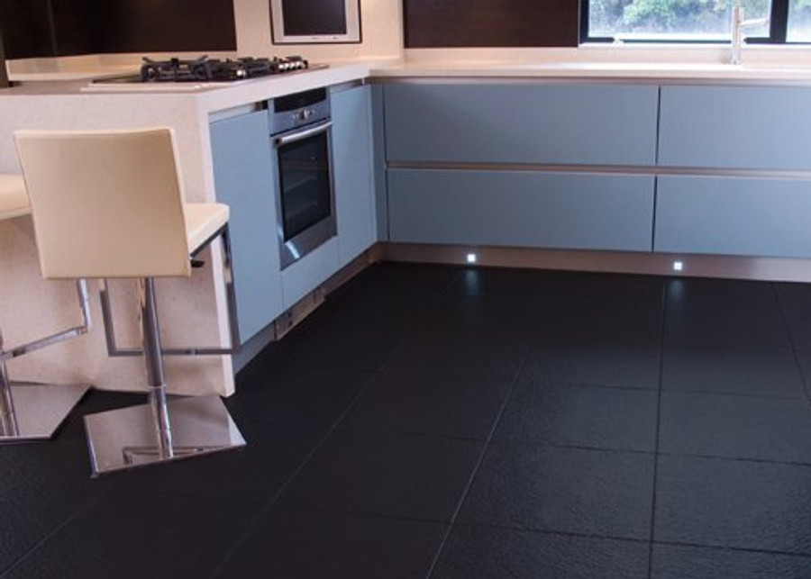 Perfection Floor Tile Slate (6 Tiles / 16.62 SQFT Per CS) - Black