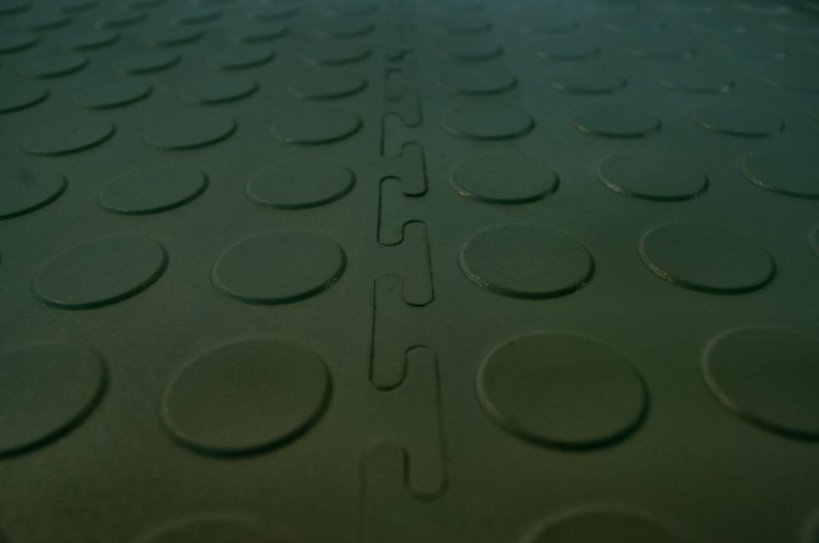 "Flexi Tile Coin Top 20.5"" x 20.5"" x 4.5MM (8 Per CS) - Hunter Green"