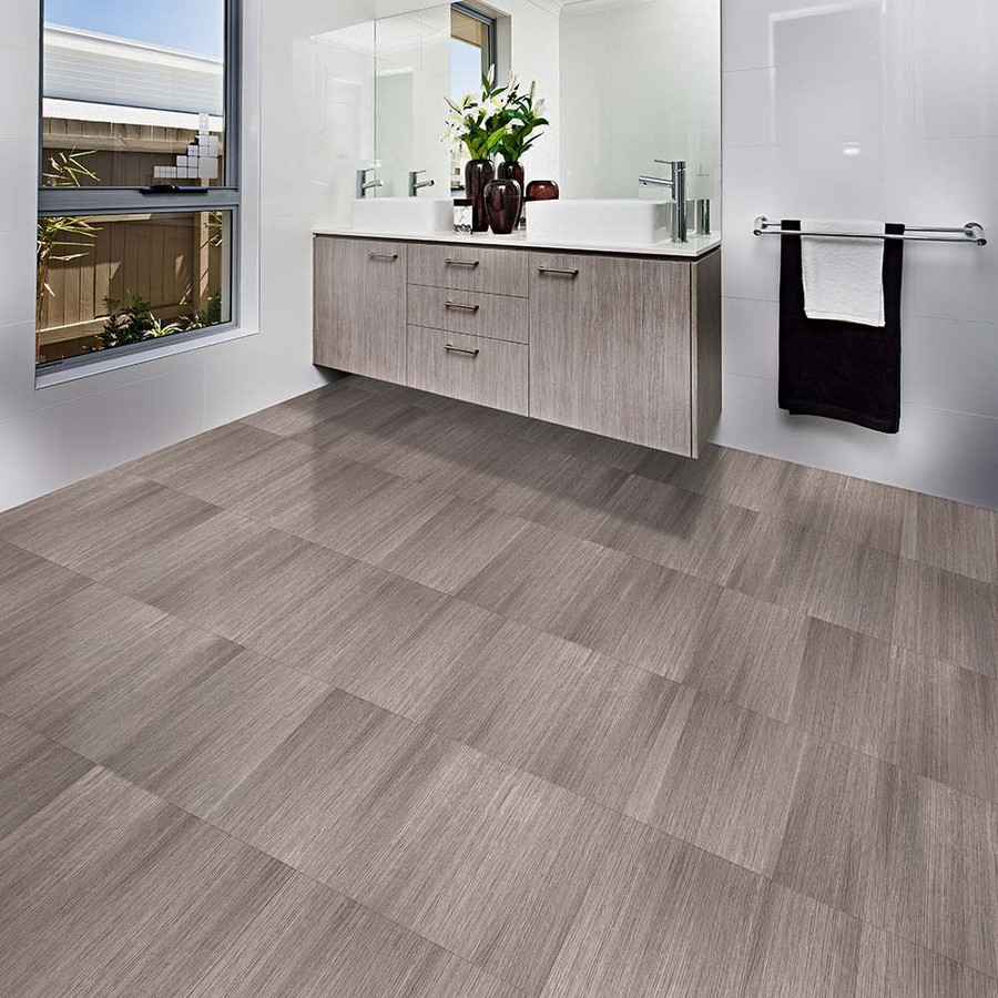 Perfection Floor Tile Natural Stone Driftwood Bathroom