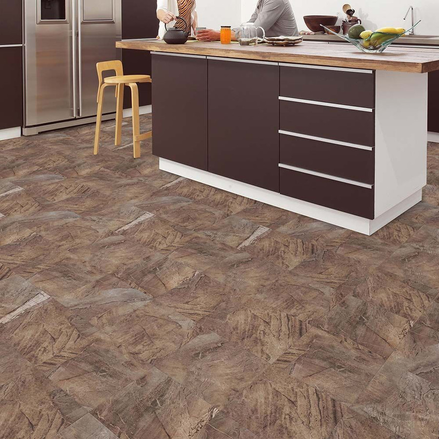 Perfection Floor Tile Natural Stone Malta Stone in a kitchen setting