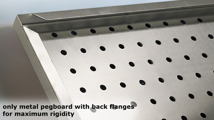 Peg Board Metal 2' x 4' (Galvanized, Stainless, Aluminum)