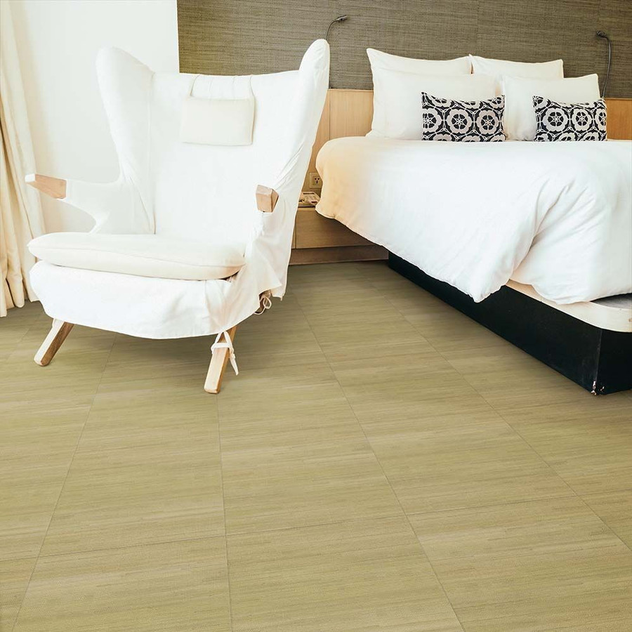 Prarie Grass Perfection Floor Tile in a bedroom