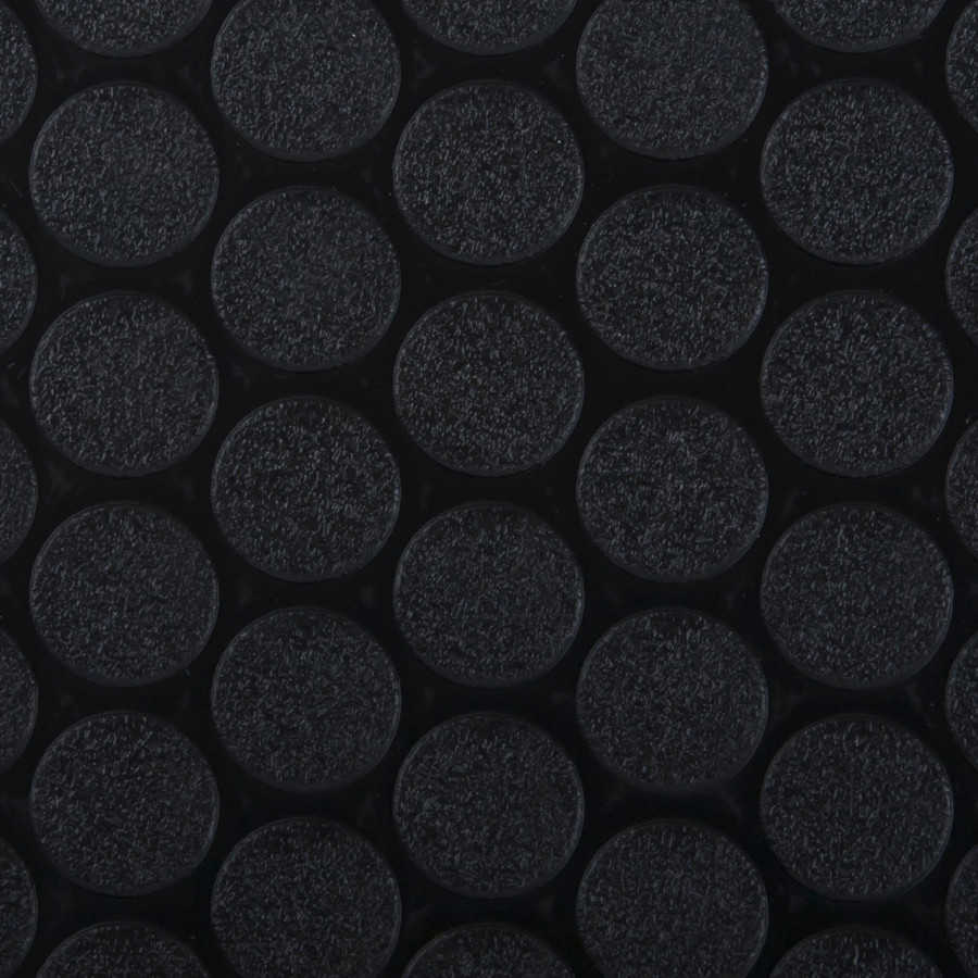 G Floor Roll Out Flooring Small Coin in Black