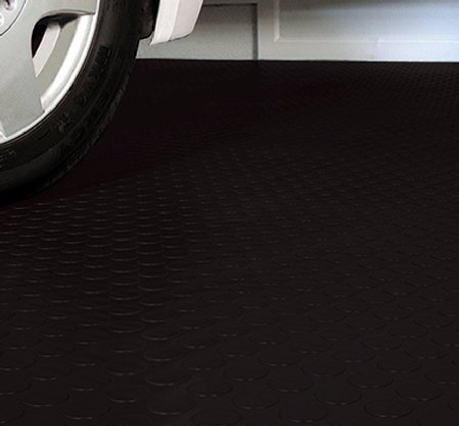 G Floor Midnight Black Coin Pattern in a garage made by Better Life Technologies
