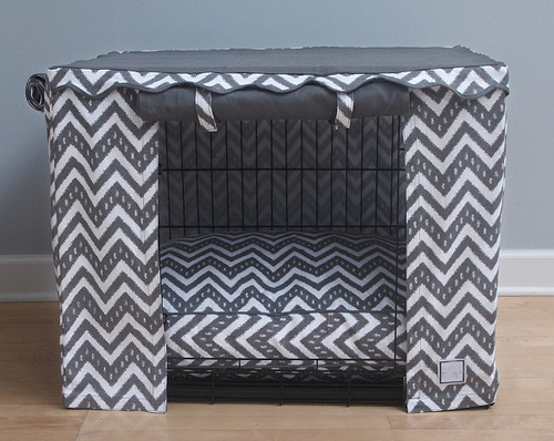 Fair Isle Dog Crate Cover & Optional Bed