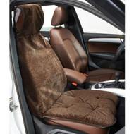 Chocolate Bones Microvelvet Single Car Seat Cover