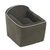 Espresso Microvelvet Luxury Car Booster Seat
