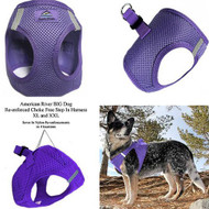 American River Ultra Choke Free Dog Harness - Paisley Purple
