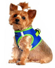 American River Top Stitched Collection Dog Harness - Cobalt Blue