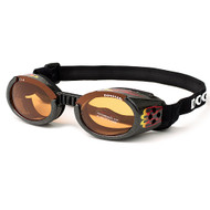 Racing Flames Pet Dog Sunglasses Doggles ILS with Orange Lens