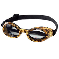Leopard Print Pet Dog Sunglasses Doggles ILS with Light Smoke Lens
