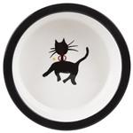 Melia Black Walking Kitty Bowl