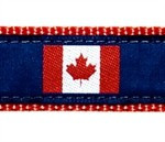 Canadian Flag 3/4 & 1.25 inch Dog Collar, Harness, Lead & Acc