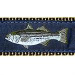 Striped Bass Dog Collars