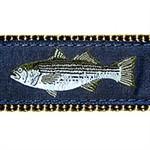 Striped Bass 1.25 inch Dog Collar, Harness, Lead & Accessories