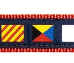 A-Z Code Flags Dog Collars