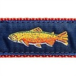 Rainbow Trout 1.25 inch Dog Collar, Harness, Lead & Accessories