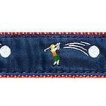 Lady Golfer 1.25 inch Dog Collar, Harness, Lead & Accessories