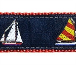 4 Sailboats Dog Collars