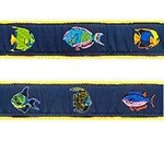 Tropical Fish 1.25 inch Dog Collar, Harness, Lead & Accessories