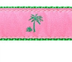 Pink Palm Tree Dog Collars