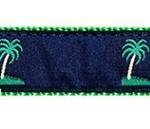 Blue Palm Tree Dog Collars