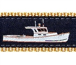 Lobster Boat Dog Collars