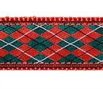 Christmas Argyle Dog Collars