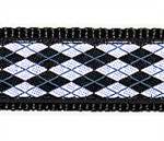 Black & White Argyle Dog Collars